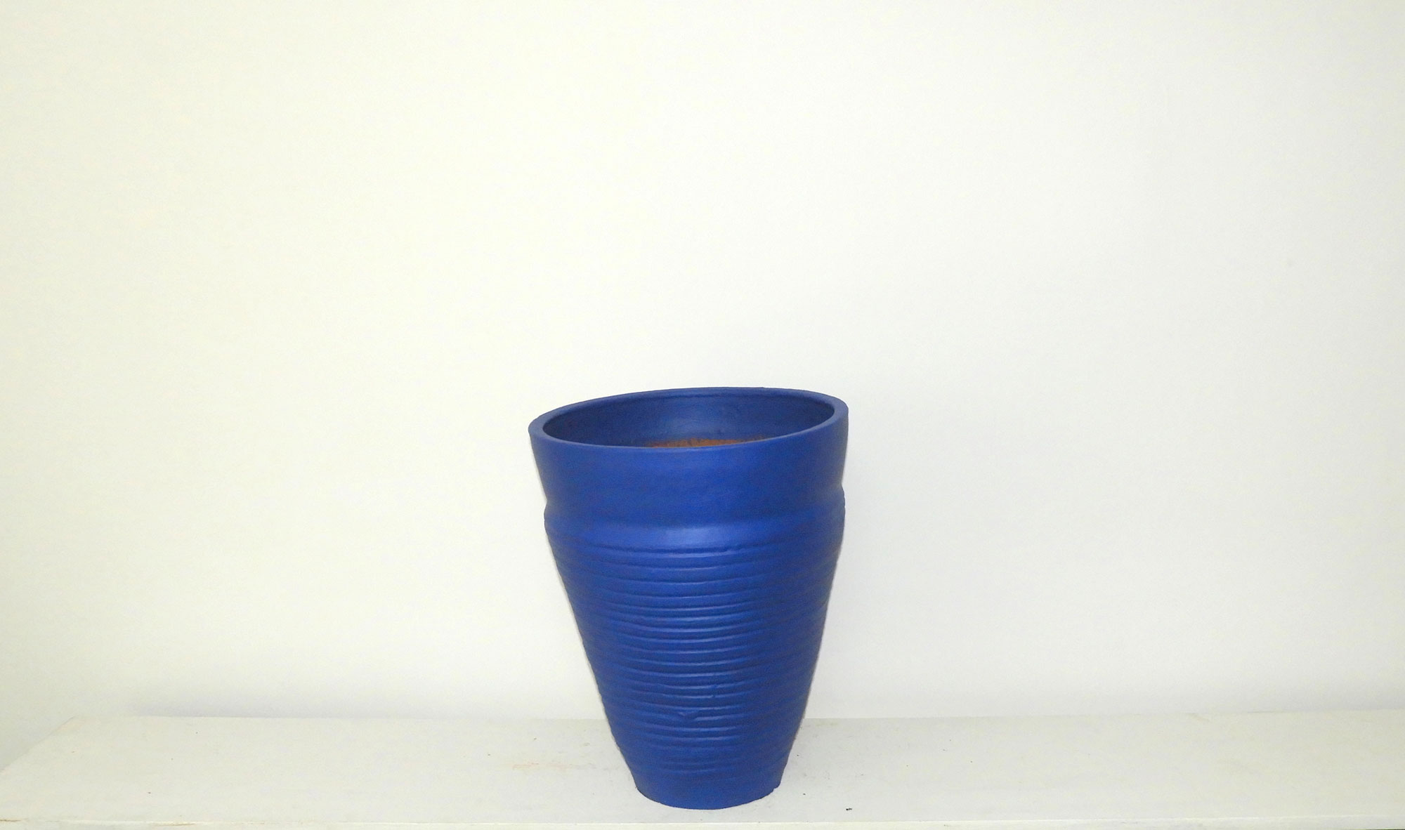 Pot Curved Cone Ridged (L)