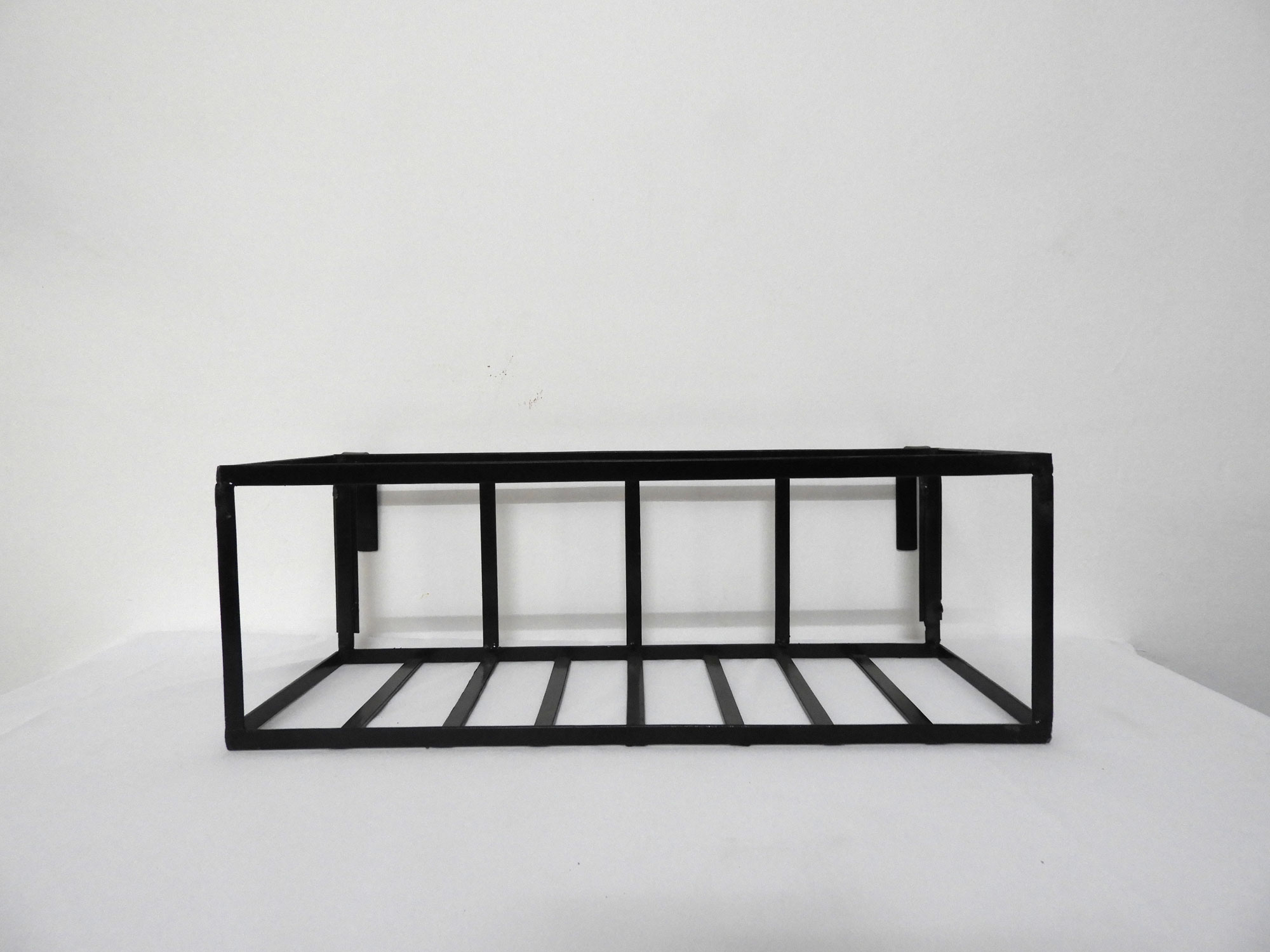 Wrought Iron Railing Planter Plain