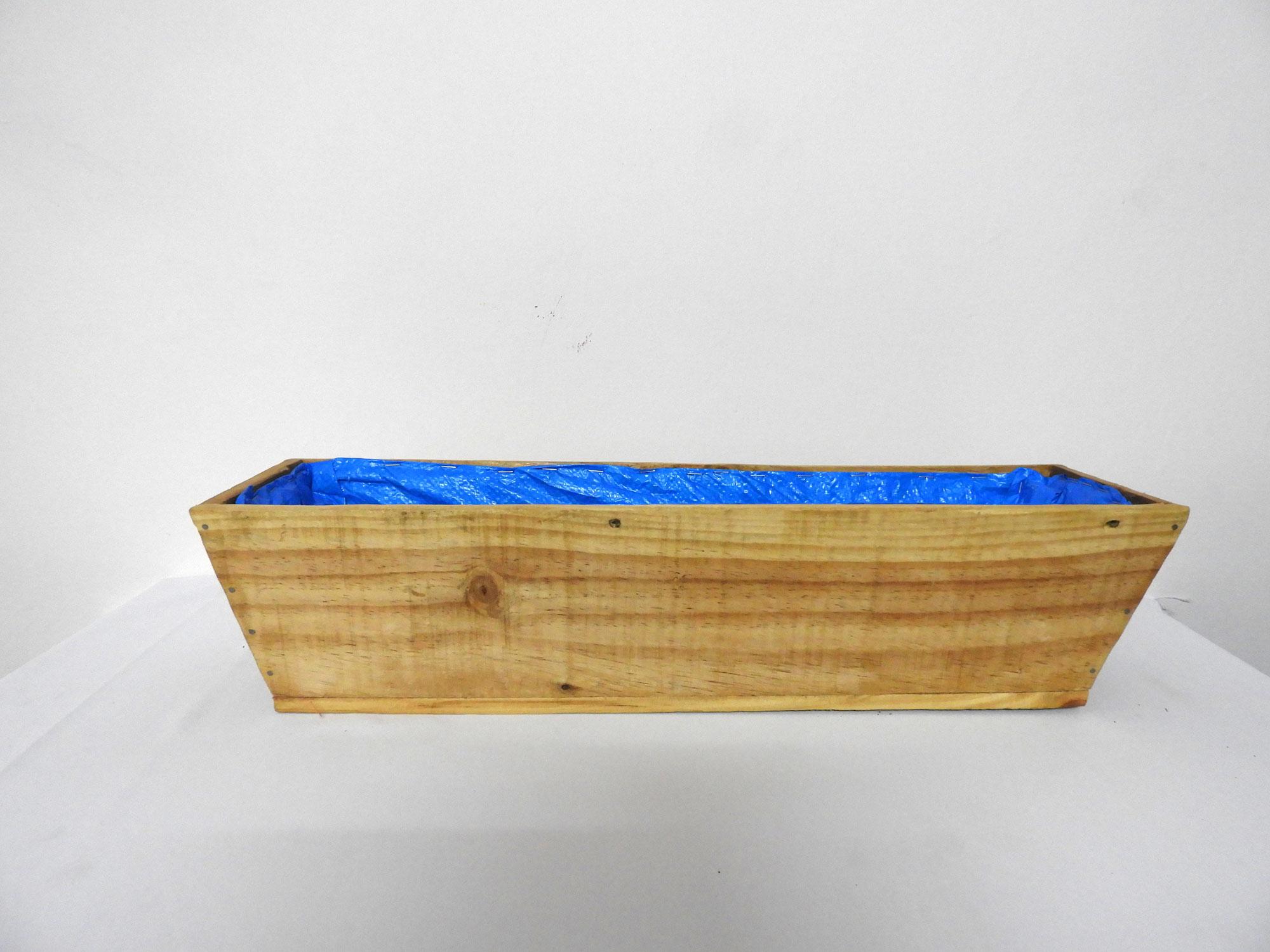 Wood Railing Planter Boat (m)