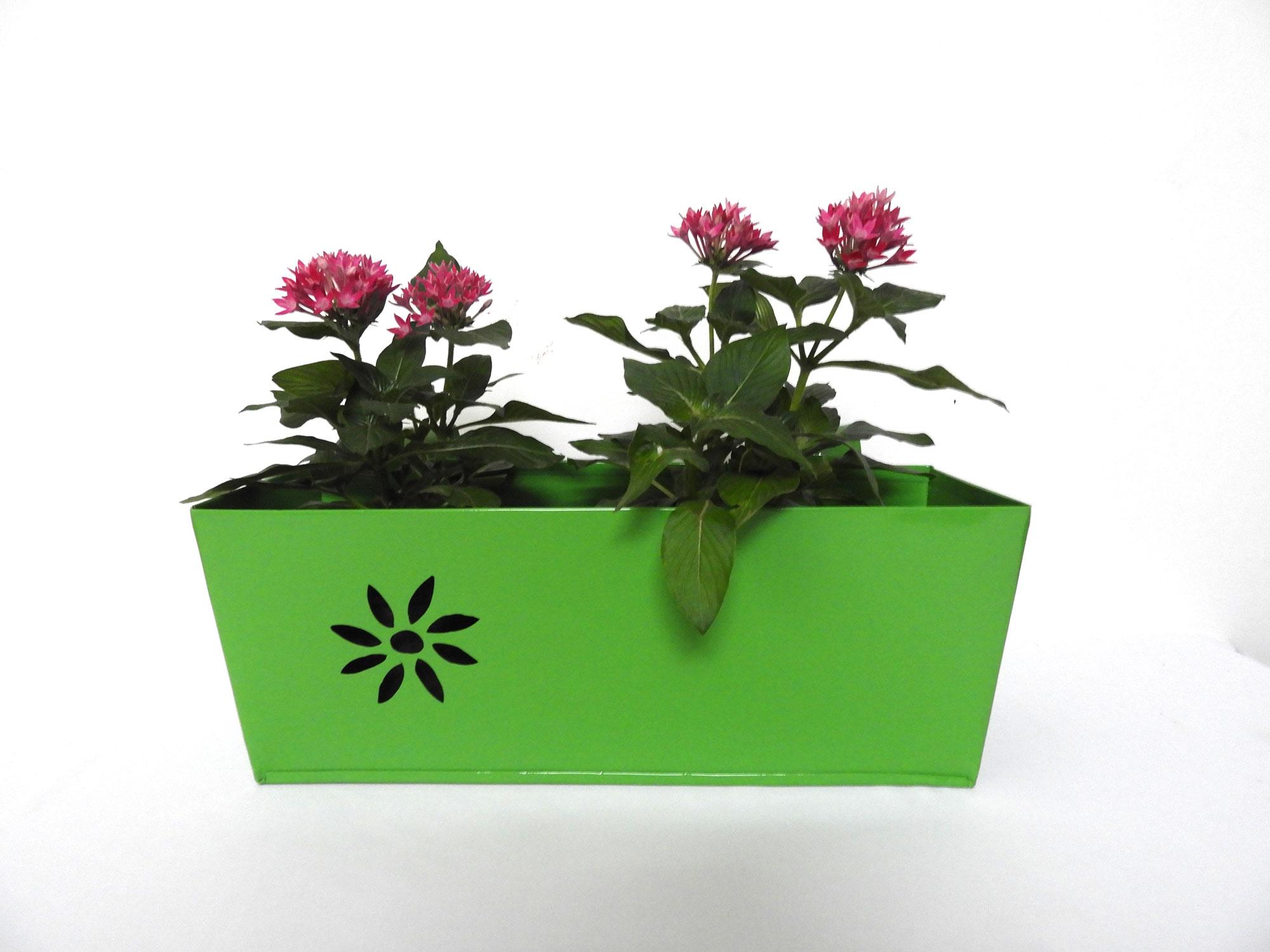GI Railing planter Flower (L)