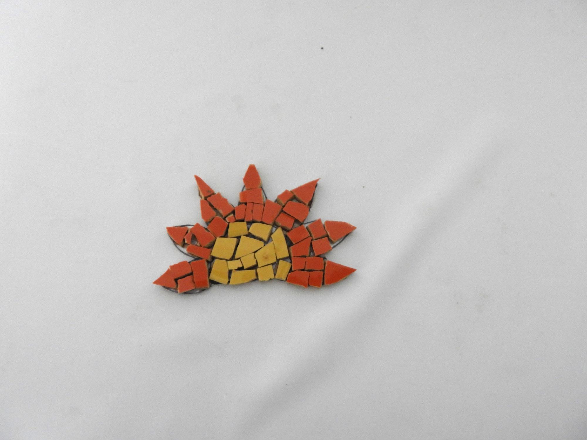 Mosaic Wall motif Sunflower