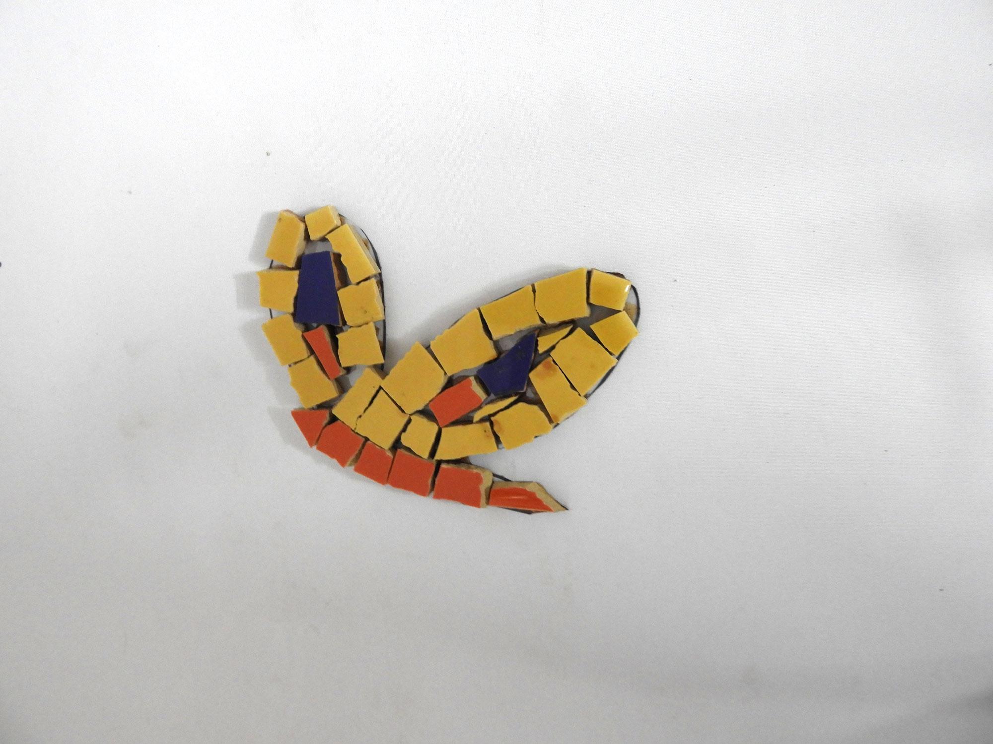 Mosaic wall motif Half Butterfly