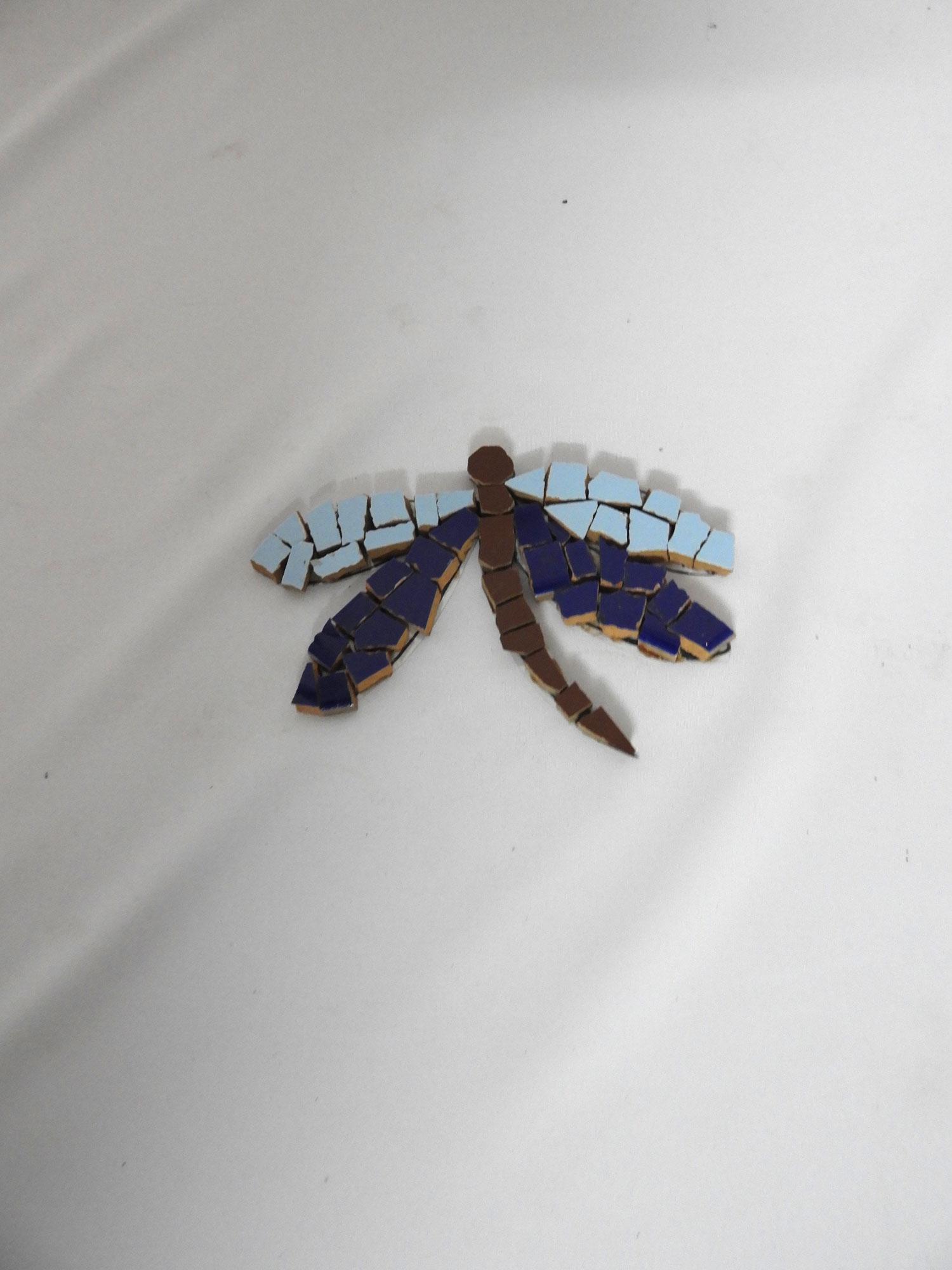 Mosiac wall motif Dragonfly