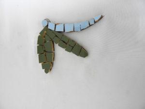 Mosaic wall motif Half Dragonfly (1)